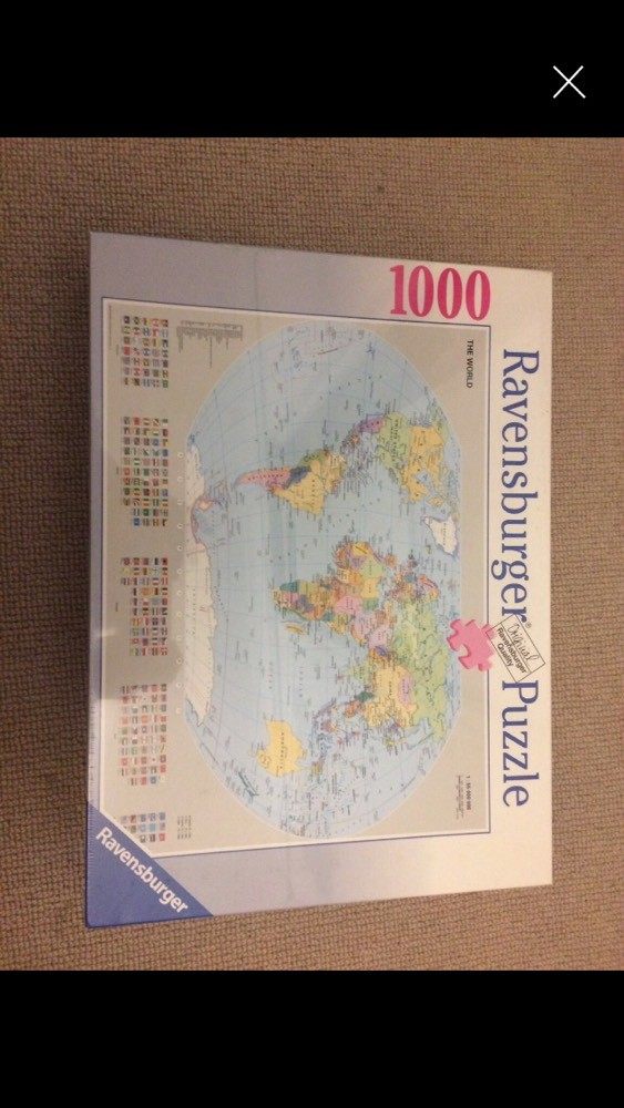 Cheap Unopened Ravensburger World Map Jigsaw Puzzle For Sale Paperclip