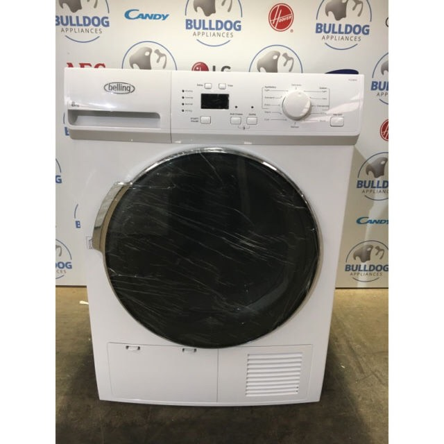 cheap belling bel fcd800 white condenser tumble dryer. Black Bedroom Furniture Sets. Home Design Ideas