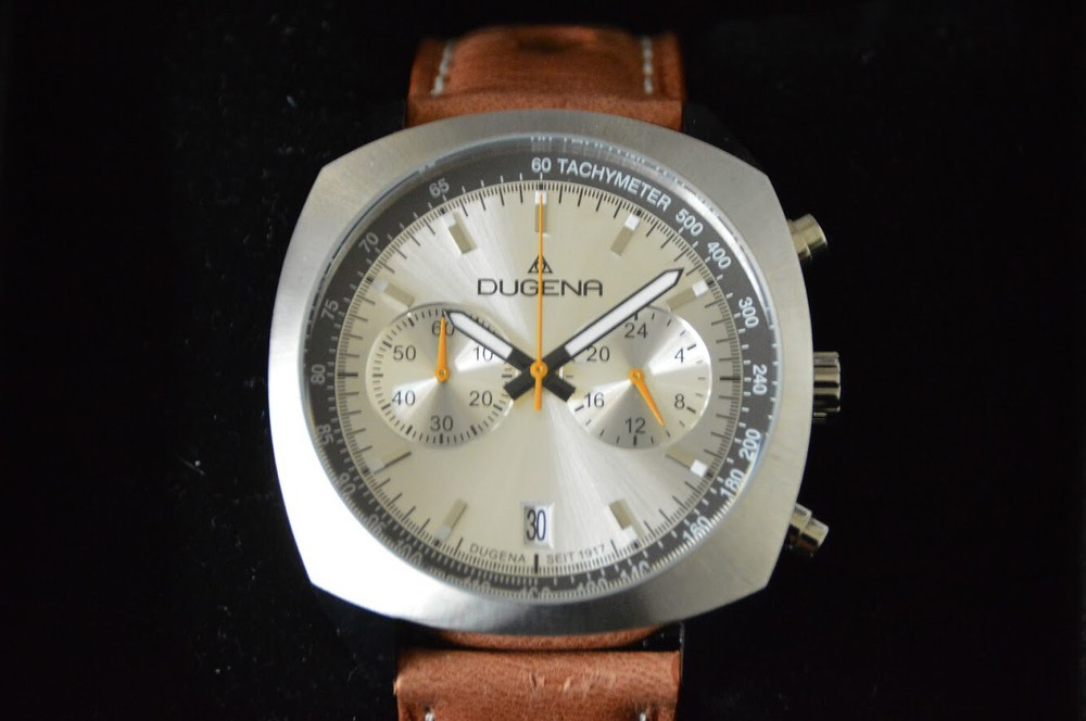 Dugena Chronograph Watch, NEW!, Box and Manual