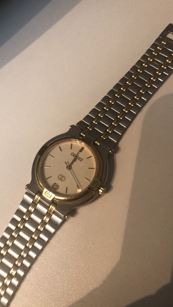 76e0998179bc Cheap Vintage Gucci Unisex Stainless Steel & Gold Working Watch for ...