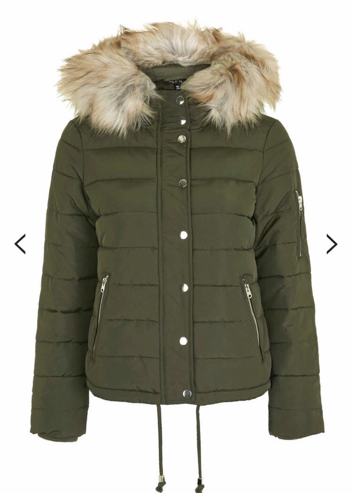 online wholesale price prevalent Cheap TopShop green coat, size 8/10 for sale . Paperclip