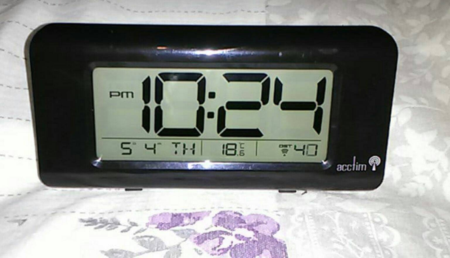 Cheap Acctim Lcd Radio Controlled Alarm Clock For Sale Paperclip