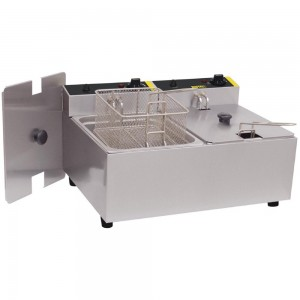 Buffalo Double Tank Countertop Fryer 2*5 Ltr