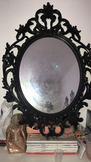 Classy mirror { needs to be cleaned }