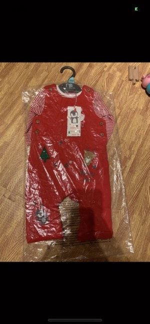 Brand new in packaging Mothercare Christmas dungarees