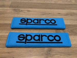 2X Seat Belt Pads Cotton Blue Gifts Sparco Bucket Seats Motorsport GTI