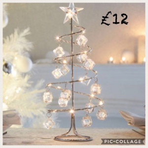 LED Sparkle Xmas Table Decoration