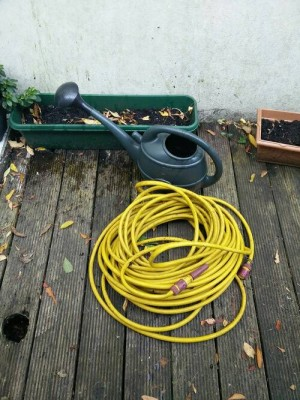 Hose and Water Can