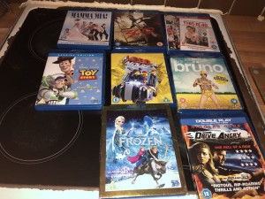 Blue ray dvds in good condition