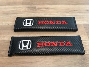 2X Seat Belt Pads Carbon Gifts Honda Civic TypeR HRV CRV CRZ Accord Ja