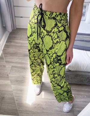 Jaded bright green trousers/pants size L