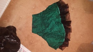 size 8 tutu silk skirt