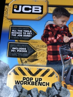 JCB kids work bench