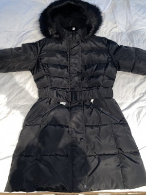 Black puffer jacket size 10