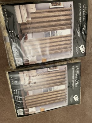 2 sets gold curtains NEW