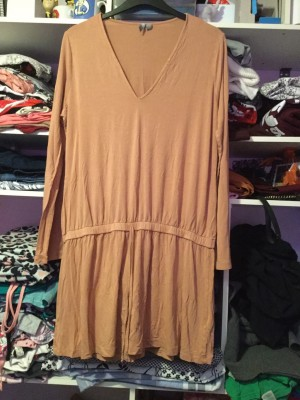 Ladies ASOS Dusty Pink Long Sleeved Tunic Top - Size 18