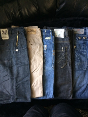 About 20 pair boot style river island ladies jeans