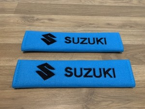 2X Seat Belt Pads Cotton Blue Gifts Suzuki Alto Celerio Grand Vitara J