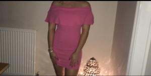 Pretty Little Thing Pink Bodycon - size 10