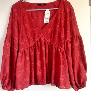 Women/Ladies Babydoll Blouse Top - Size 12/40 - George - Long sleeve - Freeship