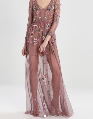 Stunning French Connection Sheer Maxi Dress