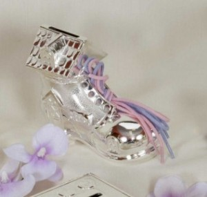 Silver Plated Shoe House Money Box