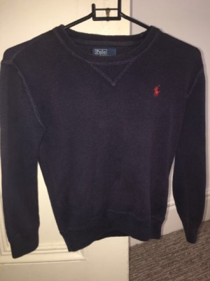 GENUINE BOYS RALPH LAUREN NAVY JUMPER SIZE 7
