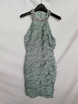 cachet pale green fitted dress size 8