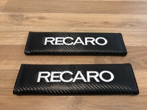 2X Seat Belt Pads Carbon Gifts Recaro Bucket Seats Motorsport Race