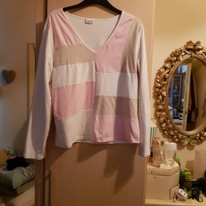 Together Cotton White & Pink Top SIze 20