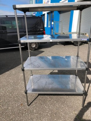 4 Tier Stainless Steel Rack (1000 x 600 x 1800mm high)