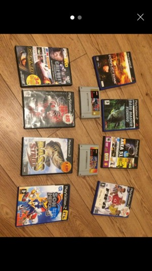 Nintendo games and ps2