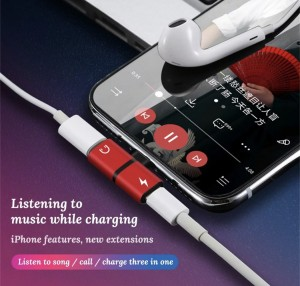 Mobile phone 2 in 1 splitter for all iphones