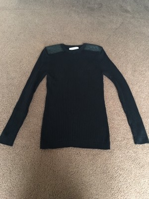 "Gents ""River Island"" Ribbed Black Jumper."