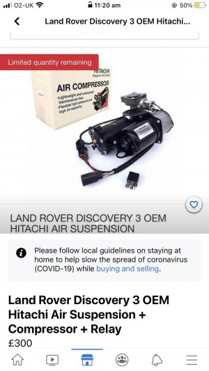 Land Rover Discovery 3 OEM Hitachi Air Suspension + Compressor + Relay
