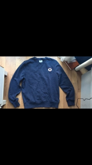 men's navy converse jumper