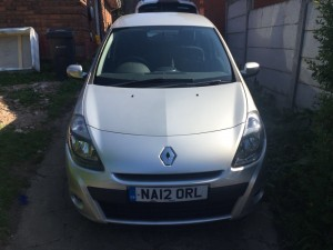 Renault Clio 2012 dci1.5 Renault Clio expression 1.5dci 2012 silver