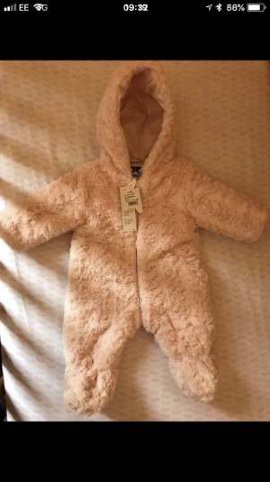 0-3 months girls pramsuit