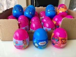 Tomas and friends eggs , trolls eggs an Disney eggs