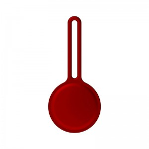 Air Tag Silicone Loop Holder Keyring Carry Case for Apple - Red