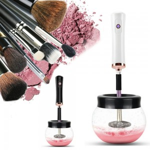 Electric Make up Brush Cleaner Machine Cosmetic Auto Clean - Black