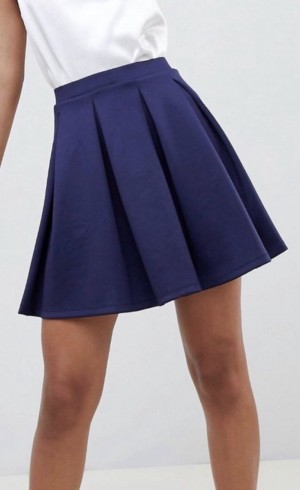 Blue ASOS scuba mini skirt