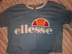 Light blue ellesse crop top
