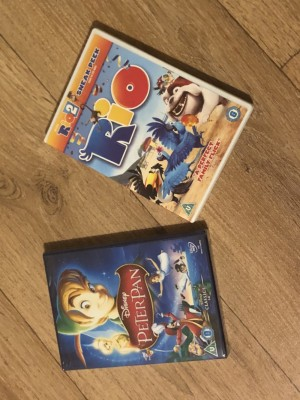Peter Pan and Rio 2 DVDS