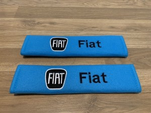 2X Seat Belt Pads Cotton Blue Gifts Fiat 500 500c 500x 500l Bravo Gran