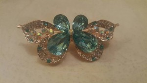 Butterfly and Leaf Hairclips
