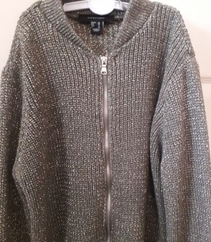 Shiny Green Knitted Jumper. UK Size 10