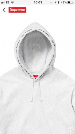 Supreme Hoodie//Ash grey//Medium