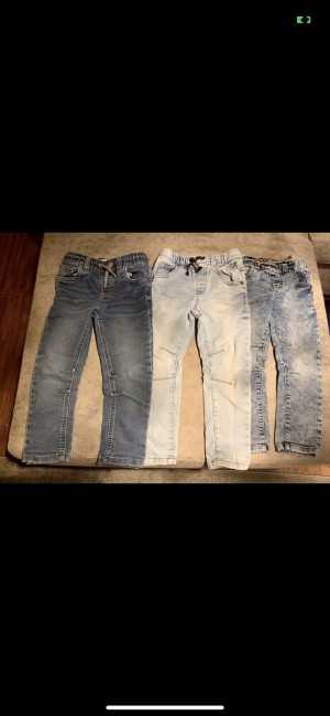 3 pairs of next tapered skinny jeans joggers size 3-4