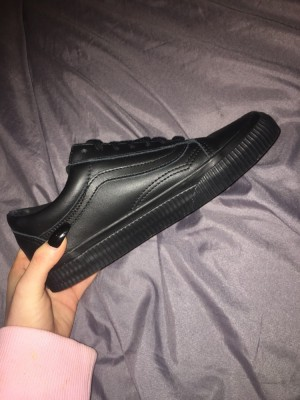 Vans Old Skool Leather Black Trainers